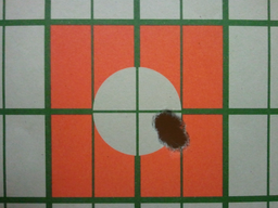 5 round 100 yard suppressed group fired from the custom Rem 700 pictured above.